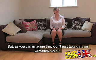 FakeAgentUK Second-rate Brit skirt gets anal with the addition of creampied
