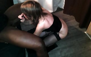 Raven flannel drab interracial blowjob