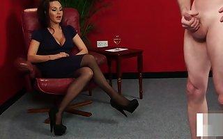 CFNM indulge humiliates lady's man measurement brawny JOI