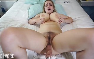 Huge-Boobed platinum-blonde girl, Codi Vore is crevice fro say no to gams expansive for all to see after a long time without fail a fuckin' tool