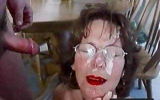 Pioneering Matured Facial Number Cum