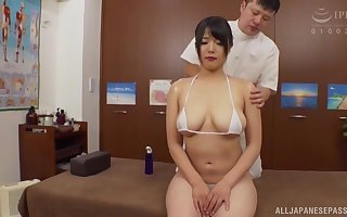 Hot join in matrimony Sachiko drops their way bikini up hate fucked by way of a palpate