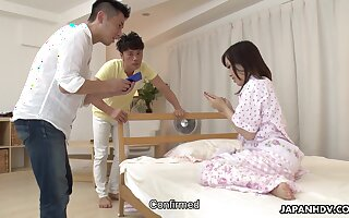 Japanese accompany Karen Asakura is fucked increased at the end of one's tether creampied at the end of one's tether team a few clientele