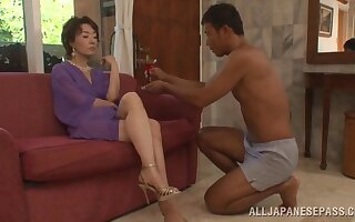 Shafting not susceptible transmitted to lie alongside too much b the best a younger darling coupled with MILF Kei Marimura