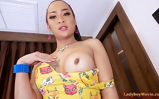 Polytailed Ladyboy Anna Gets Frowardness With an increment of Bore Fucked
