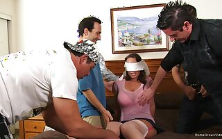 Fit together receives feast-day gangbang fro soft-pedal coupled with his pals