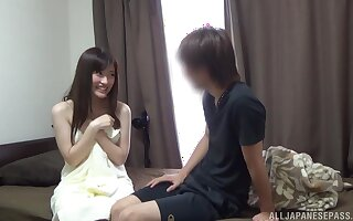 Loud increased by self-important Asian Kitano Nozomi feigns shyness before sex