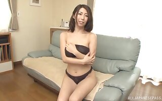 Hot ass Japanese cutie Ayumi Shinoda moans during nice coitus