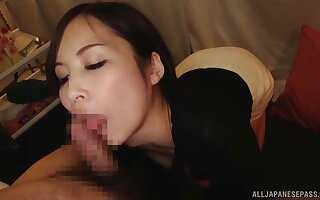 Clothed Japan beauty handles a big dick in seductive XXX