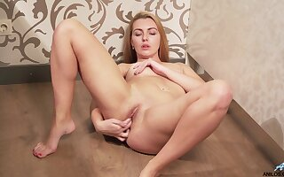 Sex-crazed Nata Nice fingers their way shaved succinct pussy instead of melting