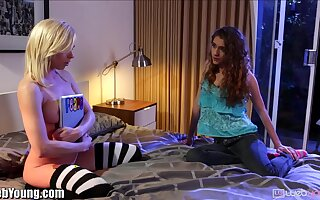 Several voluptuous lesbians Tara Morgan and Rebel Lynn are finger fucking many times others twats